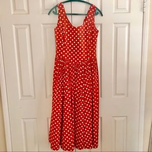 Red and white 1950s style polka dot dress ❤️💋🌹